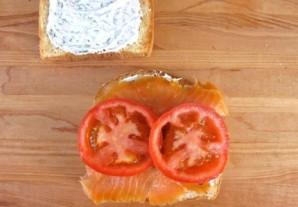 Сэндвич с семгой  - фото шаг 5