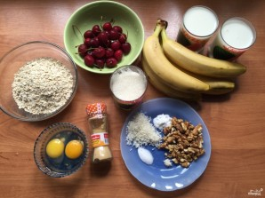 Овсяный пирог с бананами - фото шаг 1