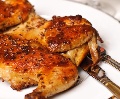 Цыпленок, запеченный в пиве.