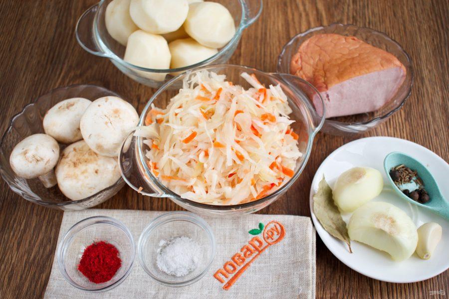 Ингредиенты для капустницы