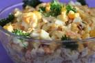 Салат с индейкой и кукурузой