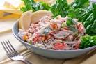 Постный крабовый салат