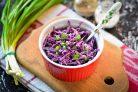 Салат из красной капусты с майонезом