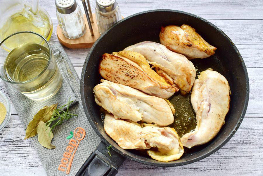Рийет из курицы в желе из белого вина