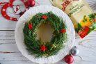 Новогодний салат Рождественский венок
