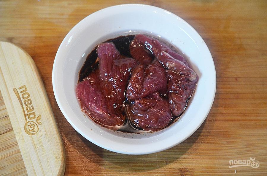 Теплый салат из говядины