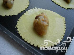 Яблочные конвертики с миндалем и изюмом
