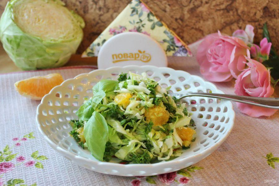 Капустный салат с апельсином