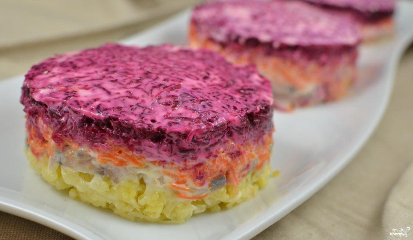 Салат шуба рецепт с с сельдью