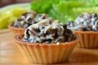 Закуска с грибами в тарталетках