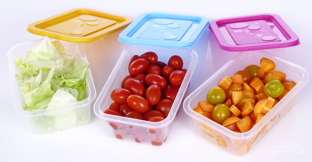 Пластиковые контейнеры для хранения овощей