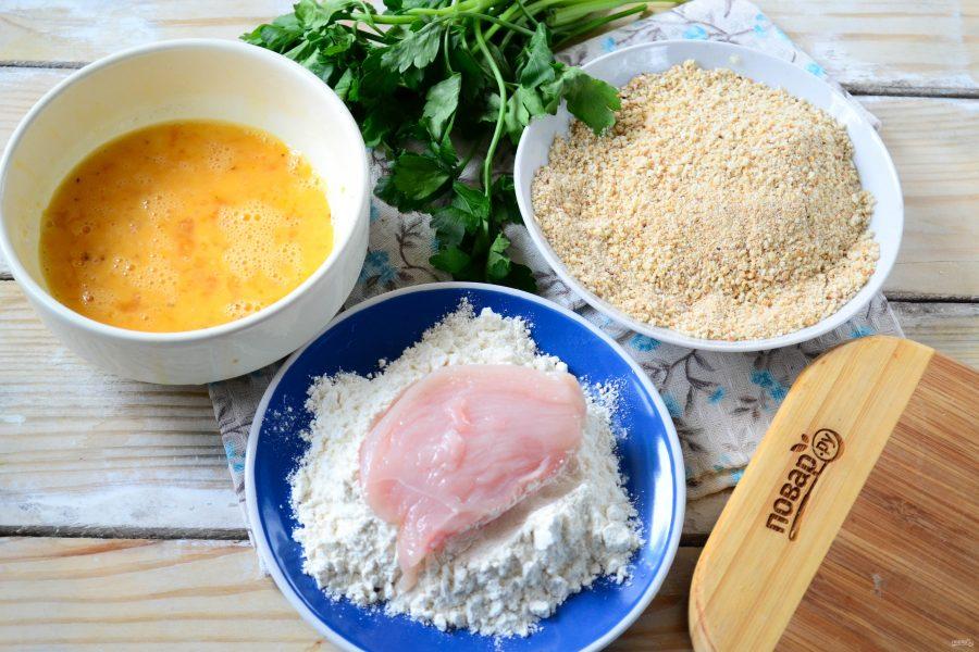 Вафельная лазанья с курицей