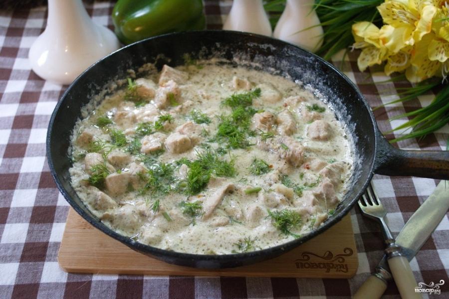 Индейка в сливочном соусе рецепт с фото