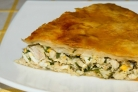 Пирог с сулугуни и зеленью