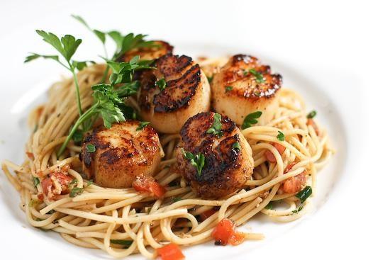 Рецепт Рецепт пасты с морскими гребешками