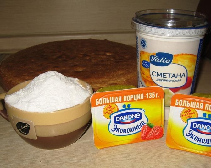 крем из йогурта для бисквита