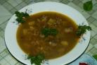 Суп из куриной печени