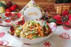 Салат с кальмарами и спаржевой фасолью