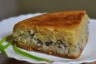 Пирог из сайры с рисом