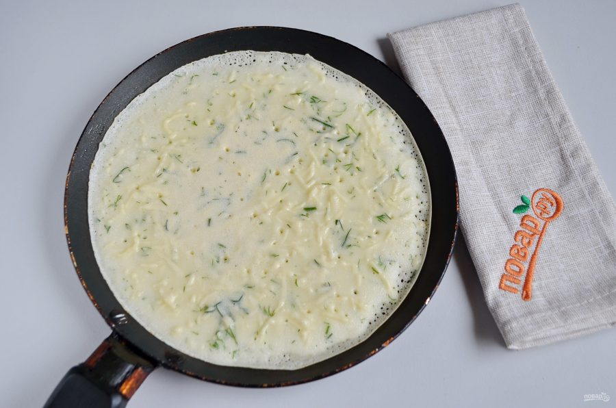 Приготовление с сыром и укропом