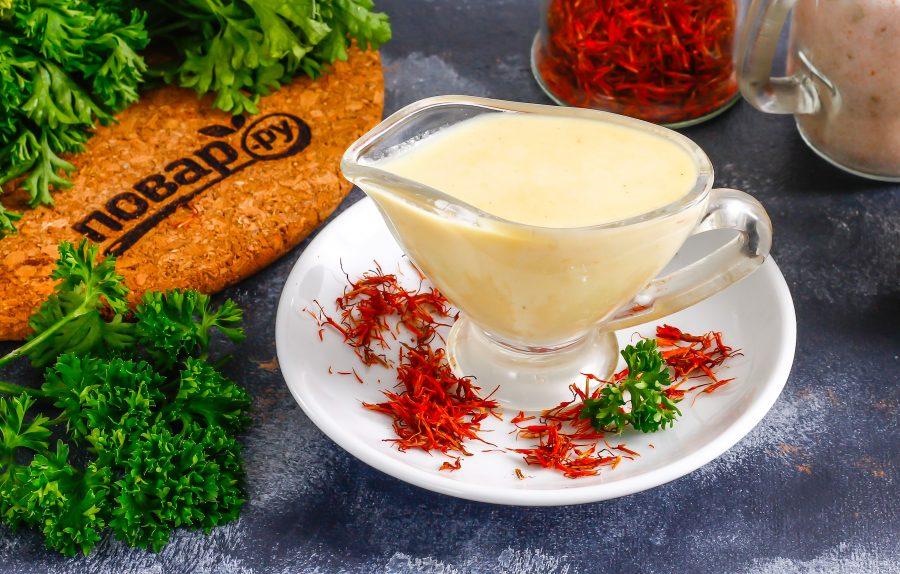 Сливочный соус с шафраном