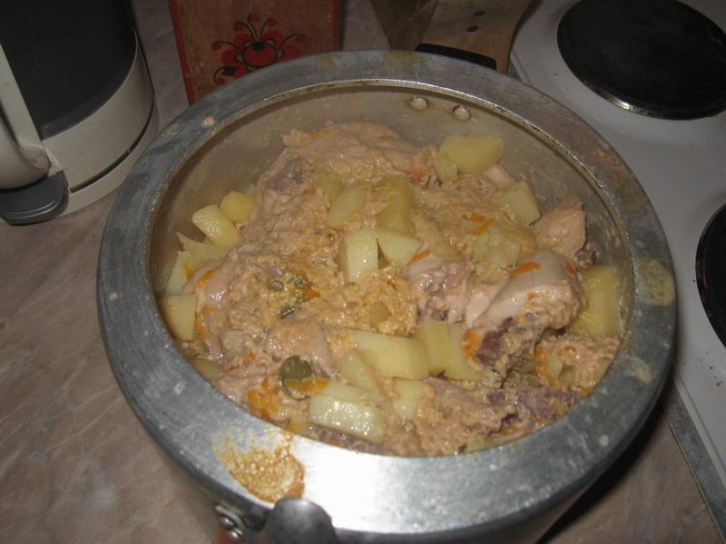 жаркое из курицы с картошкой в скороварке