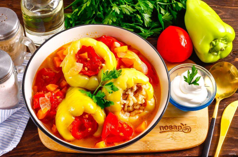 Фаршированный перец по-узбекски