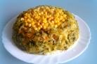 Постный салат с рыбой