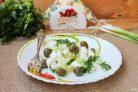 Зеленый салат с сыром фета