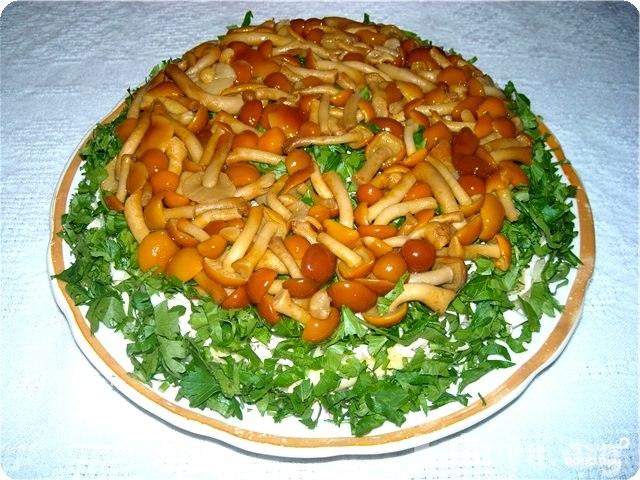 Блюда с замороженными опятами рецепты с фото