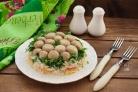 Салат Грибная полянка с курицей