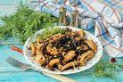 Черный рис с курицей