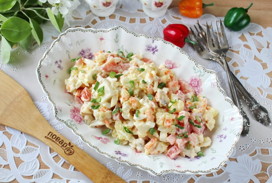 Салат из морского окуня
