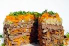 Печеночный торт с морковью