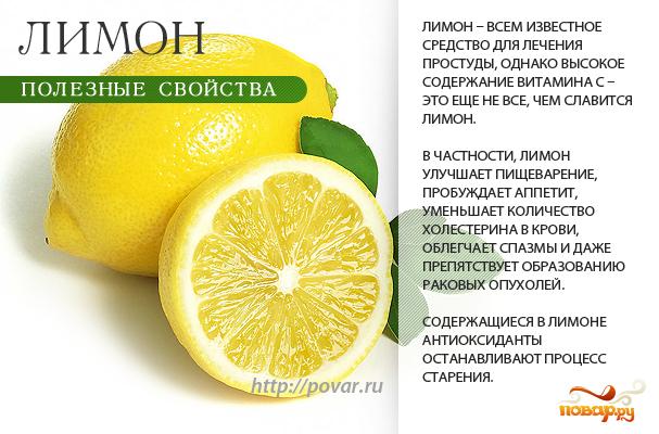 Лимон - полезные свойства