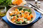 Салат из тыквы со шпинатом