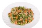 Морковь с зелёным горошком