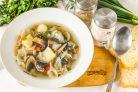 Постный суп с лапшой