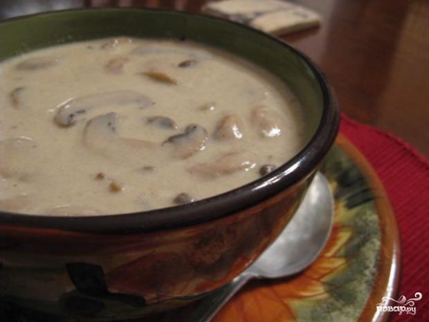 Грибной суп из поберезовиков