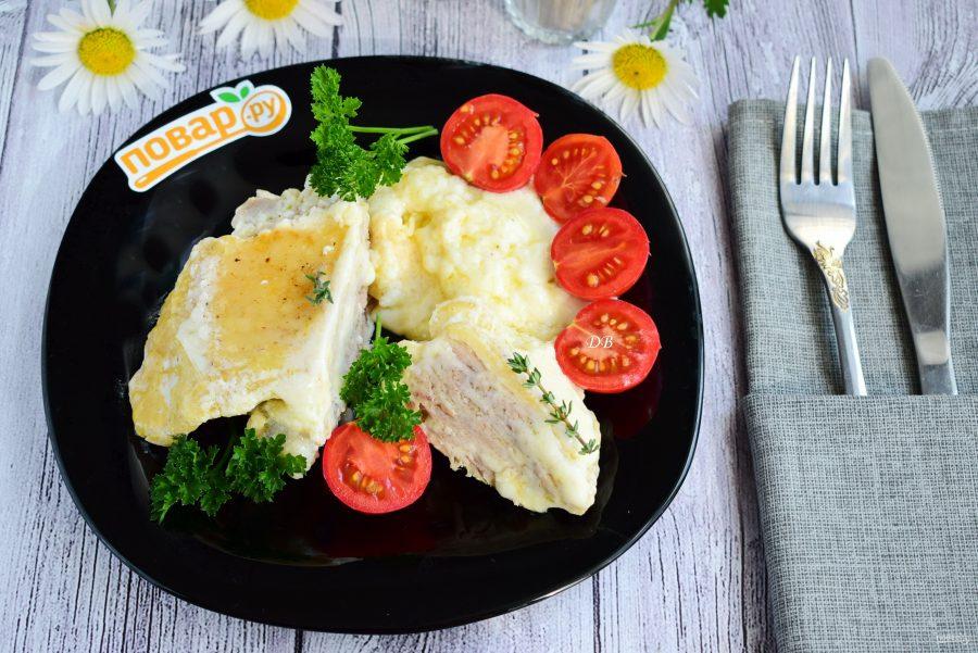 Нежная курица в сырном соусе