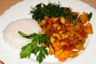 Овощи в кисло-сладком соусе с кешью