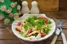 Салат с индейкой и помидорами