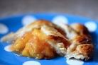 Персиковый пирог из песочного теста