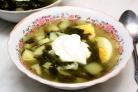 Суп из щавеля в мультиварке