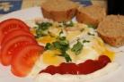 Яичница с сыром плавленным