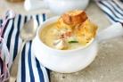 Рыбный суп с гренками