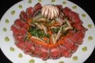 Карпаччо с салатом Шиитаке