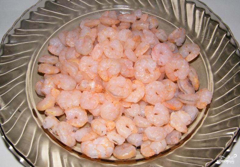 Салат кальмар креветки крабовые палочки икра