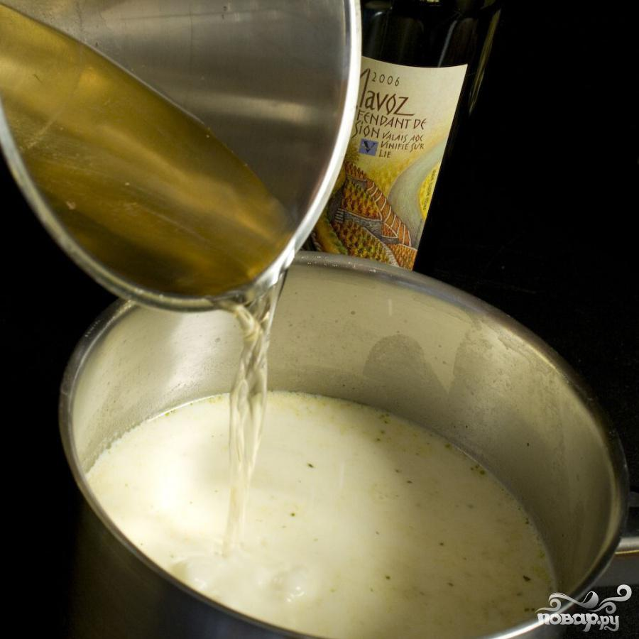 Суп с сыром и вином