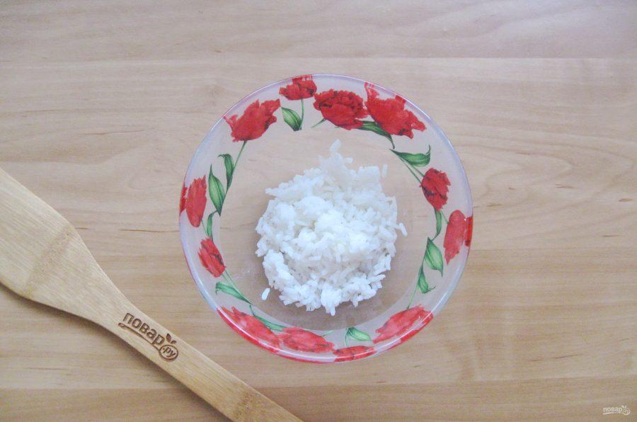 Салат с морской капустой и горбушей